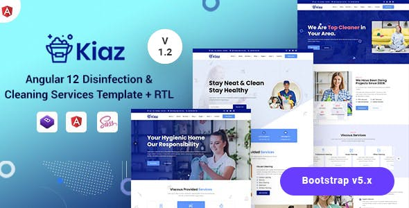 Kiaz - Angular 12 Disinfecting & Cleaning Services