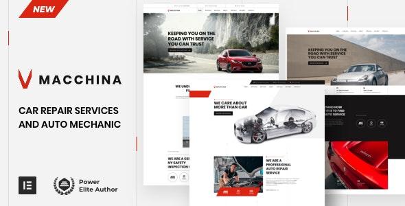 Macchina - Car Repair Auto Mechanic - Business Corporate