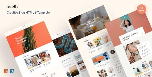 Aubliy - Creative Blog & Magazine HTML5 Template