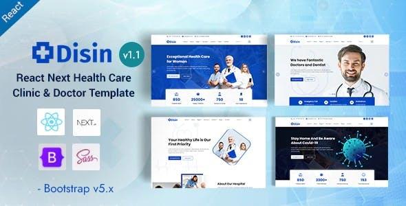 Disin - React Next Medical Health & Doctors Template