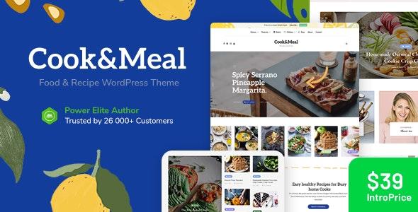 free download Cook&Meal - Food Blog & Recipe WordPress Theme