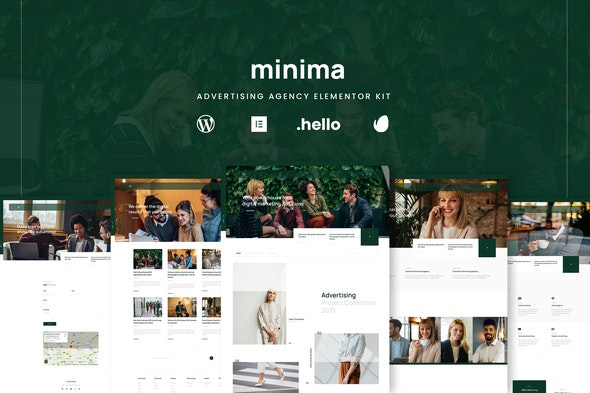 Minima - Advertising & Business Agency Elementor Template Kit - Business & Services Elementor