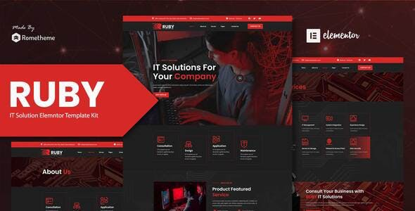 Ruby - IT Solutions Company Elementor Template Kit