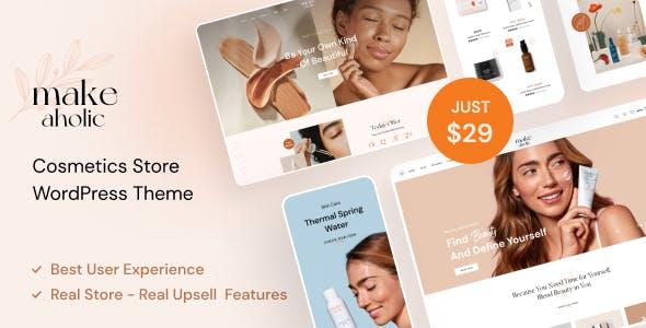 Makeaholic - Beauty Cosmetics WordPress Theme