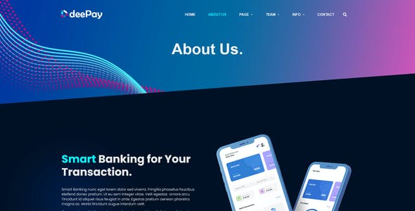 DeePay - Card Payment & Online Banking Elementor Template Kit