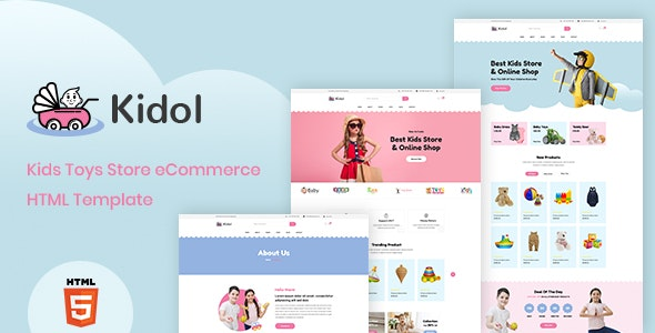 Kidol v1.0 – Kids Toys Store eCommerce HTML Template