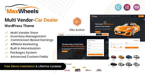 Maxwheels - Multivendor Car Dealership WordPress