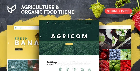 Agricom - Agriculture & Organic Food HTML Template Pack - Food Retail