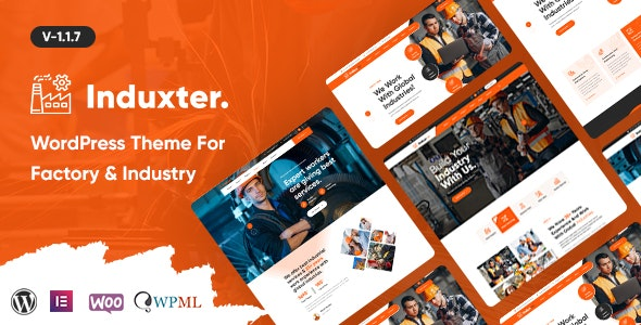 Induxter - Industry And Factory WordPress Theme - Business Corporate