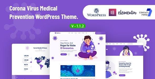 Korisna - Virus Medical Prevention WordPress Theme