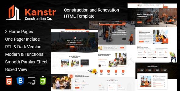 kanstr, Construction HTML Template
