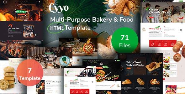 Cyyo- Multipurpose Food &  Bakery HTML Template