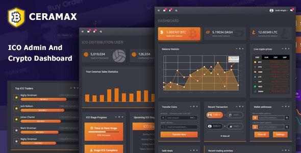 Ceramax - ICO Admin & Crypto Trading Dashboard - Admin Templates Site Templates