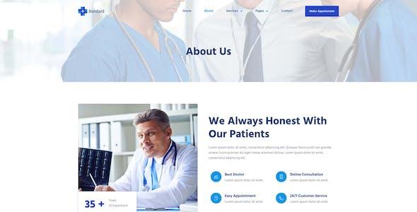 Bandaid - Health & Medical Elementor Template Kit