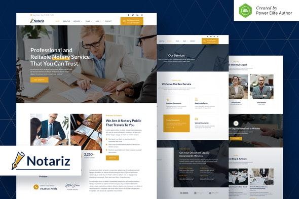 Notariz – Notary Public & Legal Services Elementor Template Kit - Finance & Law Elementor