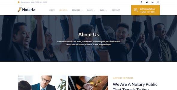 Notariz – Notary Public & Legal Services Elementor Template Kit