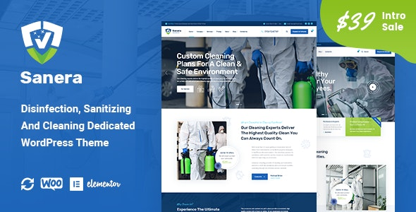 Sanera - Sanitizing And Cleaning Services WordPress Theme - Business Corporate