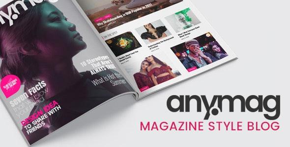 Anymag v2.2.1 – Magazine Style WordPress Blog