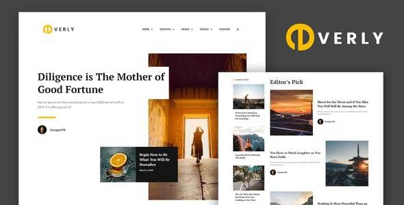 Everly - Blog & Magazine Elementor Template Kit