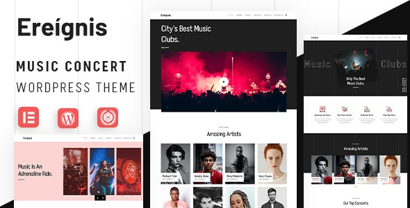 Ereignis - Music Concert WordPress Theme - Music and Bands Entertainment