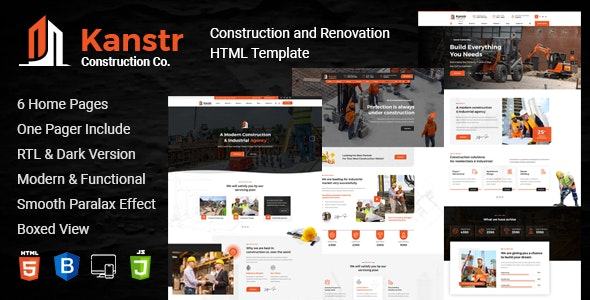 kanstr, Construction HTML Template + RTL Ready - Business Corporate