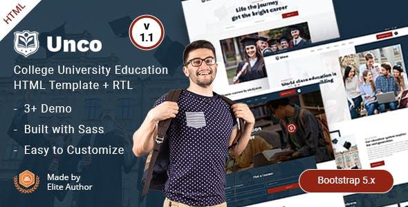 College University Education HTML Template - Unco