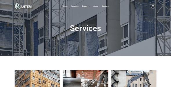 Anteri - Concrete Services Elementor Template Kit