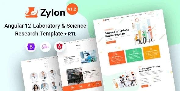 Zylon - Angular 12 Research & Laboratory Template - Corporate Site Templates