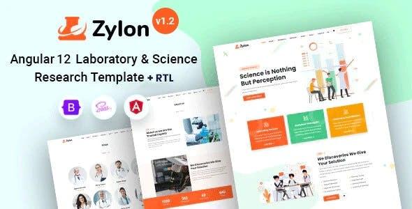 Angular 12 Research & Laboratory Template - Zylon