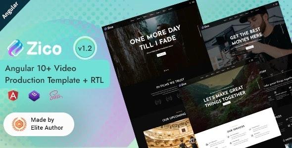 Zico - Angular 12 Video Production Template - Film & TV Entertainment