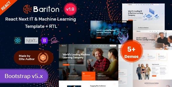 React Next IT & Machine Learning Template - Bariton