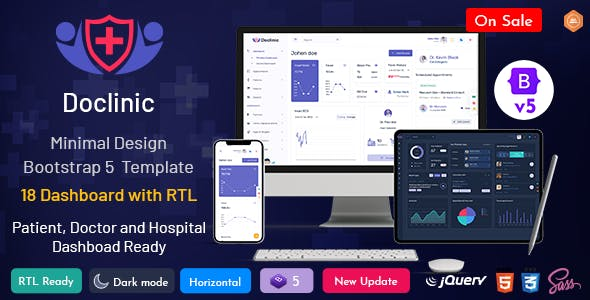 Doclinic - Medical Responsive Bootstrap Admin Dashboard