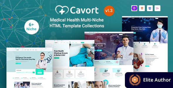 Cavort - Medical Health Multi-Niche Template Collections