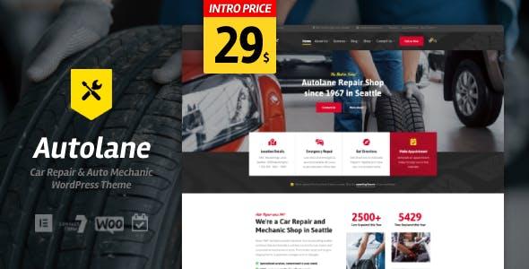 Autolane - Car Mechanic WordPress Theme