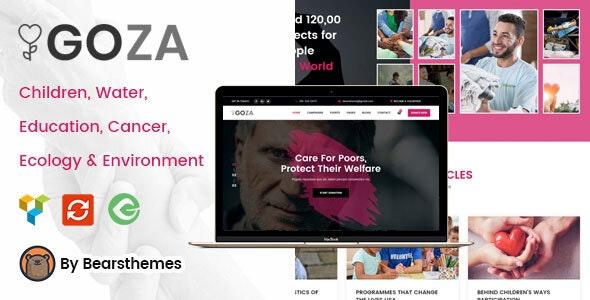 Goza - Nonprofit Charity WordPress Theme - Charity Nonprofit