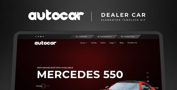 Autocar - Car Dealer Elementor Template Kit