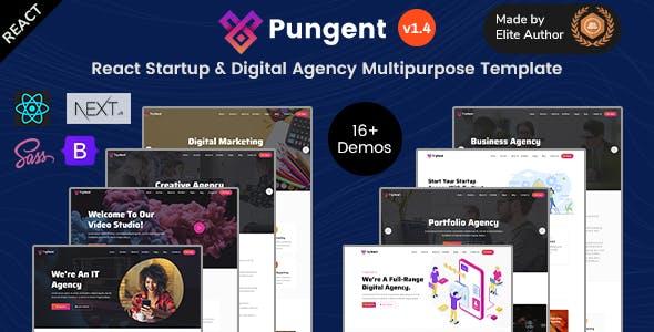 React Startup & Digital Agency Multipurpose Template - Pungent