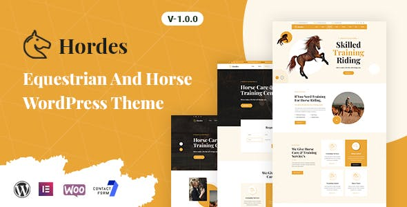 Hordes - Equestrian And Horse WordPress Theme