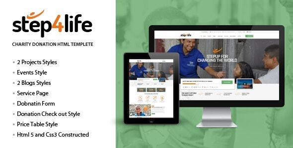 Step4Life | Charity / Nonprofit / NGO HTML Template - Nonprofit Site Templates
