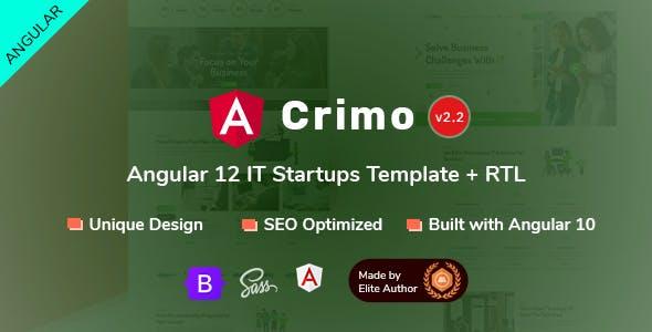 Crimo - Angular 12 IT Business Startups Template