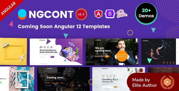 Angular 12 Coming Soon Under Construction Template - Ngcont
