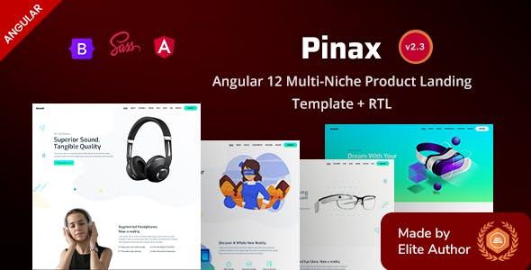 Angular 12 Multi-Niche Product Landing Template - Pinax