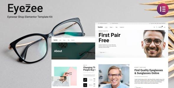 Eyezee - Eyewear Shop Elementor Template Kit