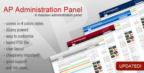 AP Administration Panel - Admin Templates Site Templates