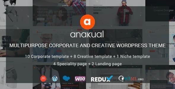 Anakual - Multipurpose Corporate and Creative WordPress Theme - Business Corporate