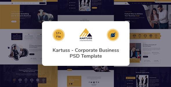 Kartuss Corporate Business PSD Template - Business Corporate