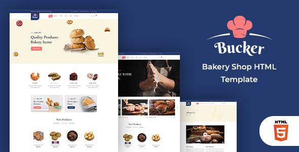 Bucker – Bakery Shop HTML Template - Food Retail