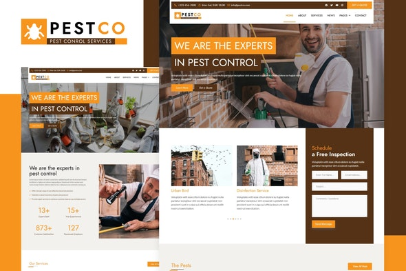 Pestco - Pest Control Elementor Template Kit - Business & Services Elementor