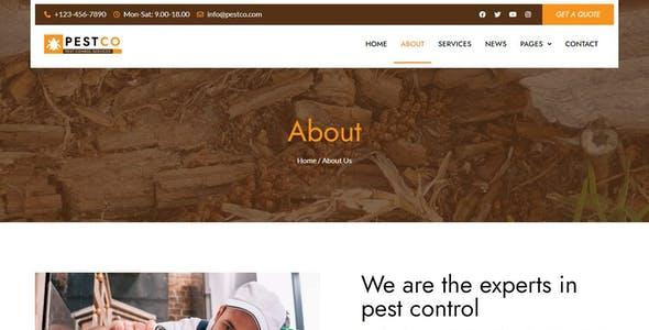 Pestco - Pest Control Elementor Template Kit