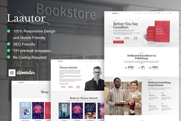 LaAutor - Author & Publisher Elementor Template Kit - Shopping & eCommerce Elementor